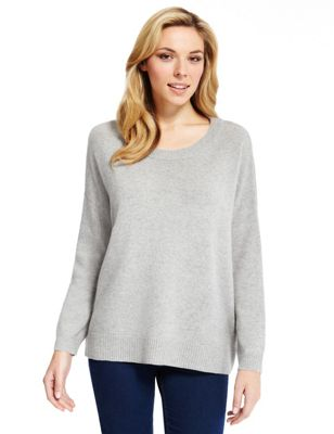 M&S Collection - Jersey 100% cashmere con cremallera lateral