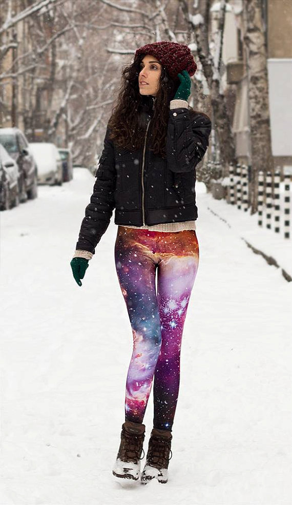 Original Galaxy Leggings / XS, S, M, L/ High Contrasts / Quality Fabric / by BAD INKA