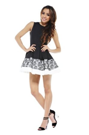 Amazon.com: AX Paris Women's Kick Out Contrast Skater Dress: Clothing