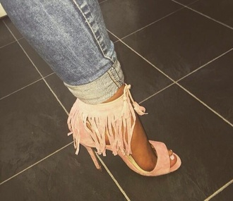shoes pink heels with tassels want this pinky color what's it called high heels girly i need this help