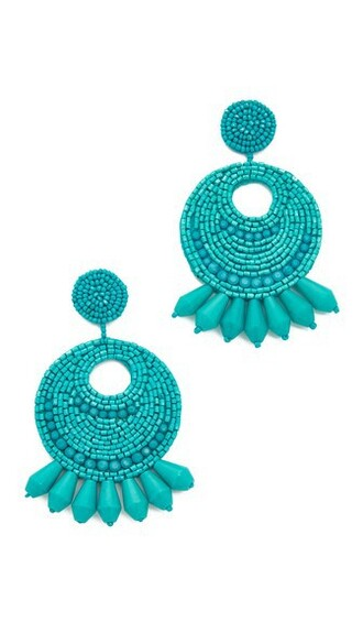 earrings hoop earrings turquoise jewels