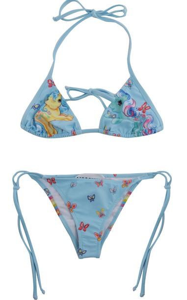 Moschino bikini triangle swimwear