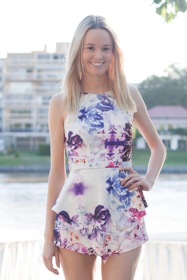 romper romper cute white pink purple blue cut-out shopfashionavenue