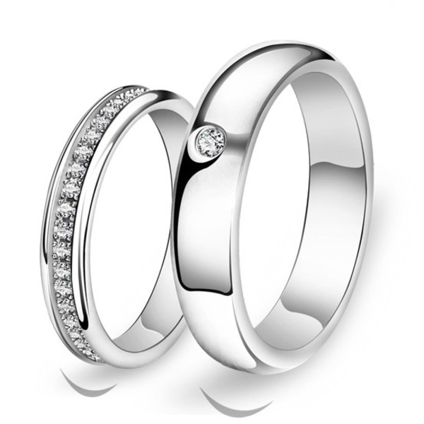 Jewels Couple Wedding Engagement Ring Jewelry Fashion Jewelry His And Hers  Rings Sterling Silver Rings Engravable