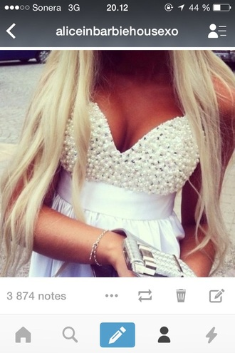 dress white pearl crop tops bralette corset top just the top