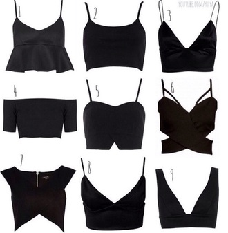 blouse black shirt styles crop tops