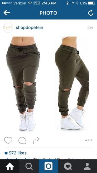 jeans joggers ripped pants joggers pants knee ripped pants