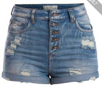 shorts blue hogh waisted