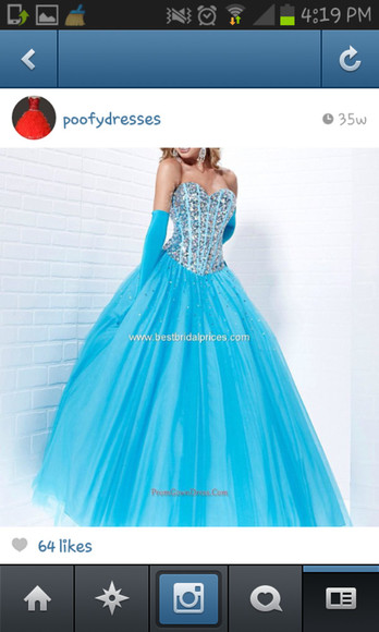 dress prom blue pretty diamond