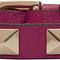 Valentino purple valentino garavani leather rockstud bracelet