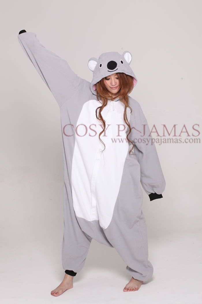 Animal Onesies Grey Koala Onesie Kigurumi For Adult