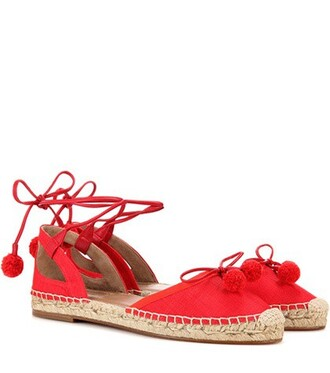 beach espadrilles red shoes