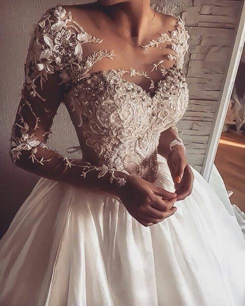 dress bridal lace wedding wedding dress