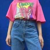 shirt,art hoe,80s style,vintage,pink,coca cola,top,coke,cocacola,aesthetic,coca-cola,aesthetic tumblr