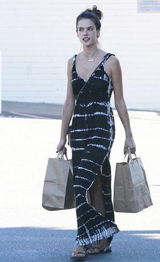 dress maxi dress summer dress summer outfits alessandra ambrosio