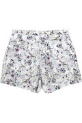 Emma cook printed silk crepe de chine shorts – 64% at the outnet.com