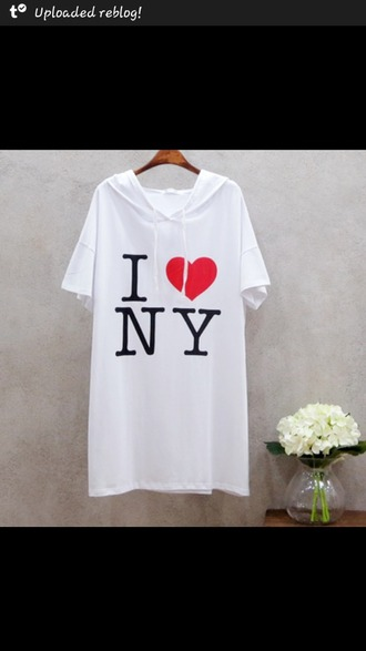 t-shirt ny i love ny white