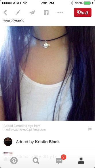 jewels necklace space choker necklace