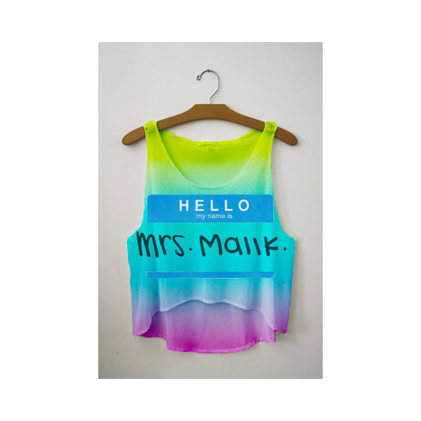 Hello My Name is Johnny Knoxville Crop Top - Polyvore