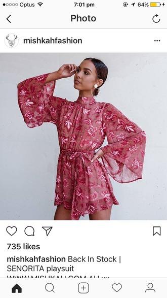 jumpsuit pink playsuit