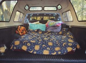 RARE Blue Sun Moon and Stars Celestial Blanket / Tumblr hippie cosmic comforter