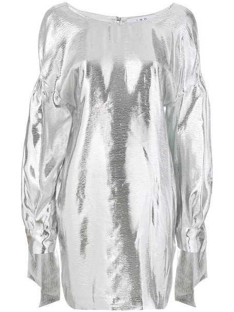 Iro dress metallic women silk grey