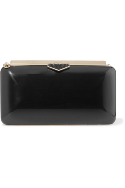 Jimmy Choo embellished clutch black bag