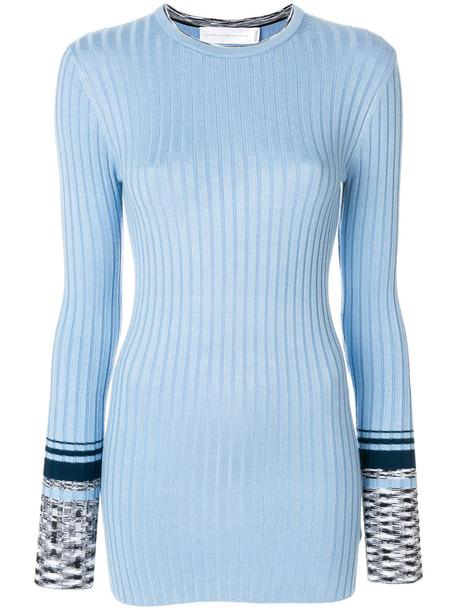 Victoria Victoria Beckham jumper long women spandex blue sweater