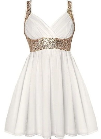 dress pretty white dress gold sequins sequin glitter prom sparkle