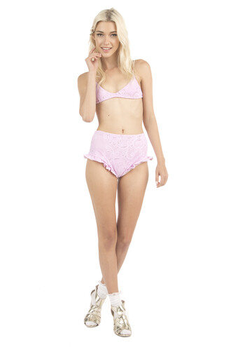 underwear bikini bottoms full coverage high waisted lolli swim pink bikiniluxe