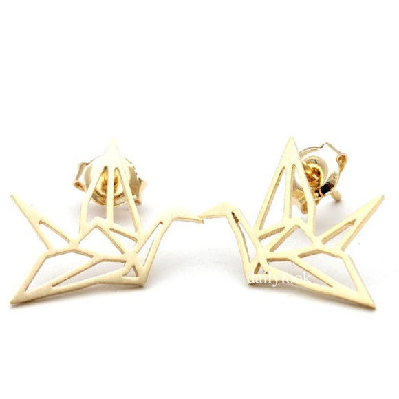 jewels earrings origami crane earrings origami cranes bird earrings bird jewelry cute earrings origami earrings