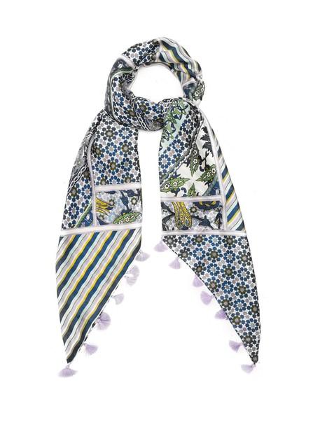 WEEKEND MAX MARA scarf silk scarf floral print silk