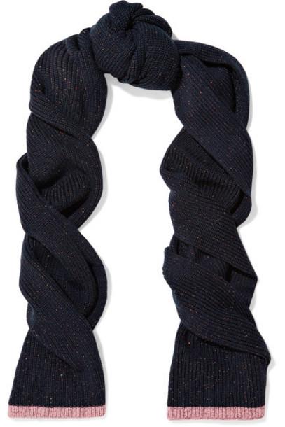 Rag & Bone metallic scarf navy wool