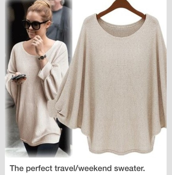 beige lauren conrad oversized sweater top beige travel travelstyle cream jumper knitwear