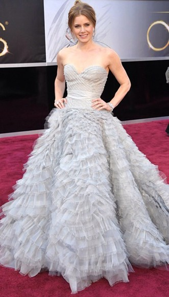 grey dress amy adams wedding dress fluffy fluffy dress,