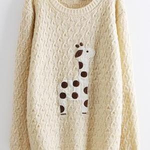 Lovely dots giraffe sweater on luulla