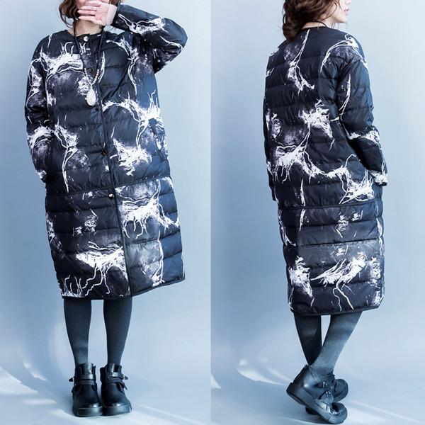 winter warm long down jacket coat