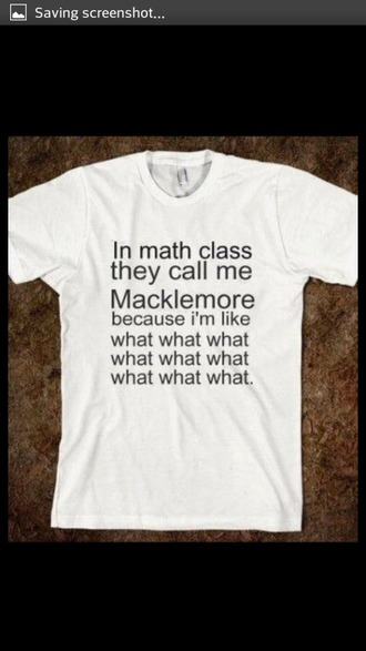 t-shirt funny graphic tee macklemore