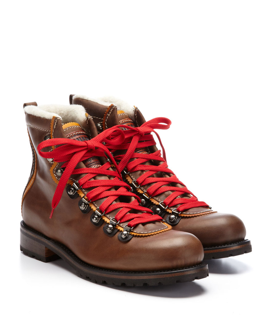 Shearling lined Red Laces Hiking boots