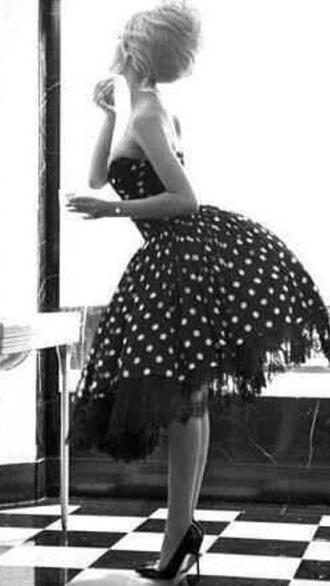 dress vintage fashion tutu skirt ruffle style stylish