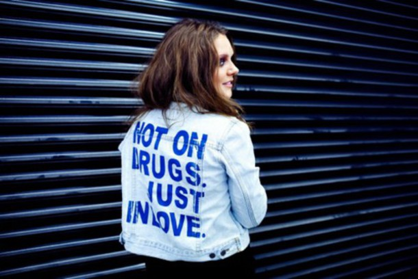 cardigan jacket tove lo denim jacket love quote on it blue jacket quote on it denim jacket