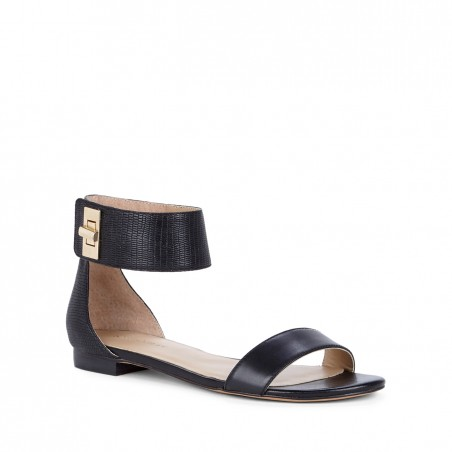 Women's Black  1/4 Inch  Ankle Strap Sandal | Kasie by Sole Society