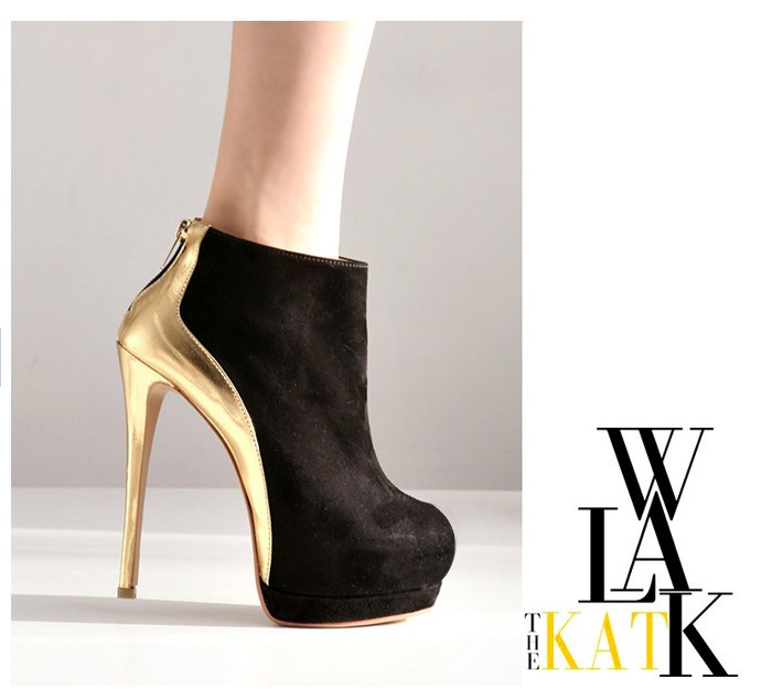 Free Shipping Sexy Gold Ankle Boots High Heel Dance Shoes 2048-in Boots from Shoes on Aliexpress.com