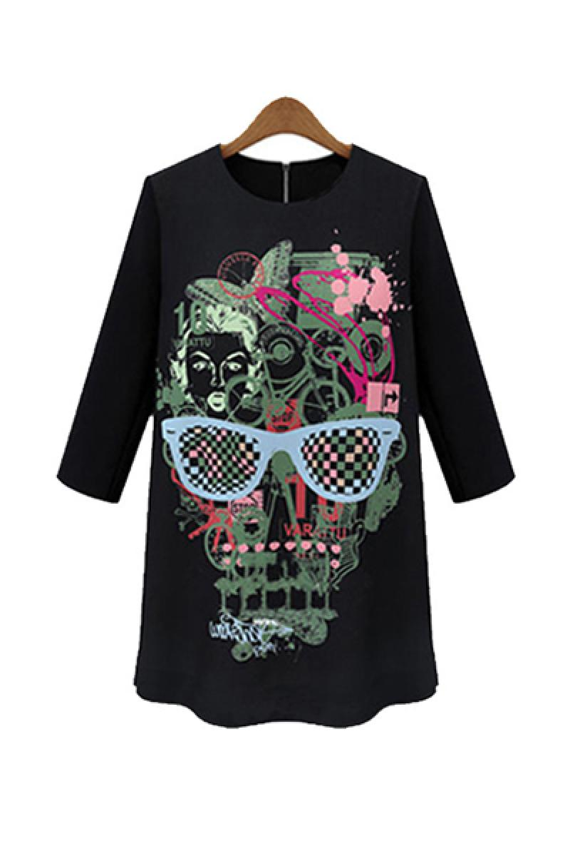 New Fashion Skull Printed Dress,Cheap in Wendybox.com