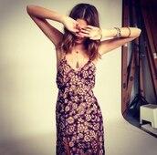 dress,maxi dress,boho dress,floral,hippie