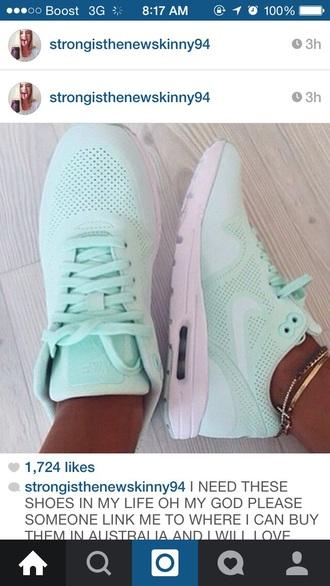shoes mint green nike air max