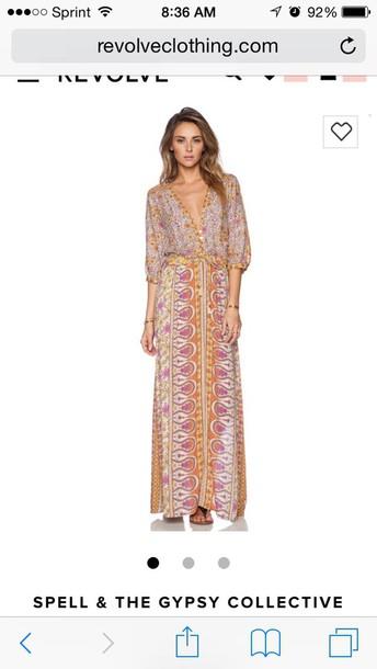 dress gypsy dress boho chic