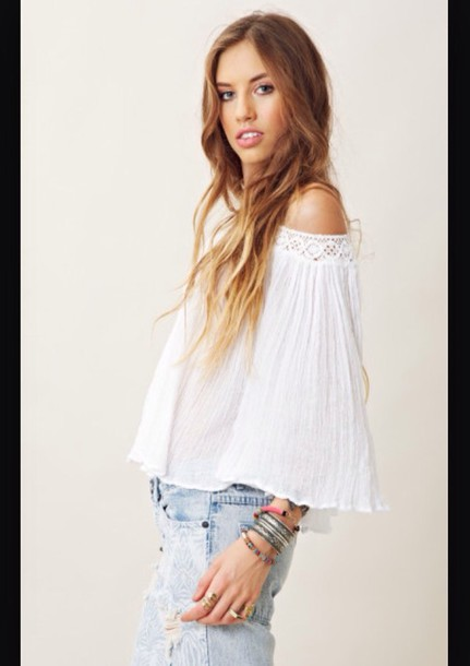 blouse hip flowy flowy top boho chic boho shirt boho dress hippie hipster trendy trendy white top peasant top