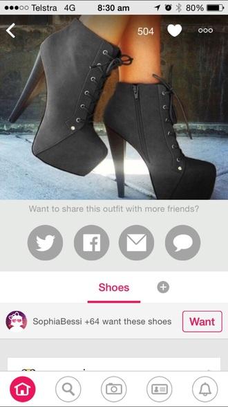 shoes boots black heels
