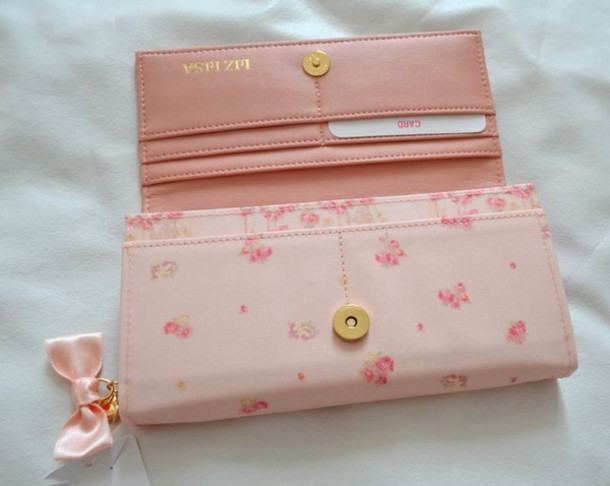 bag wallet pink flowers clutch jeans
